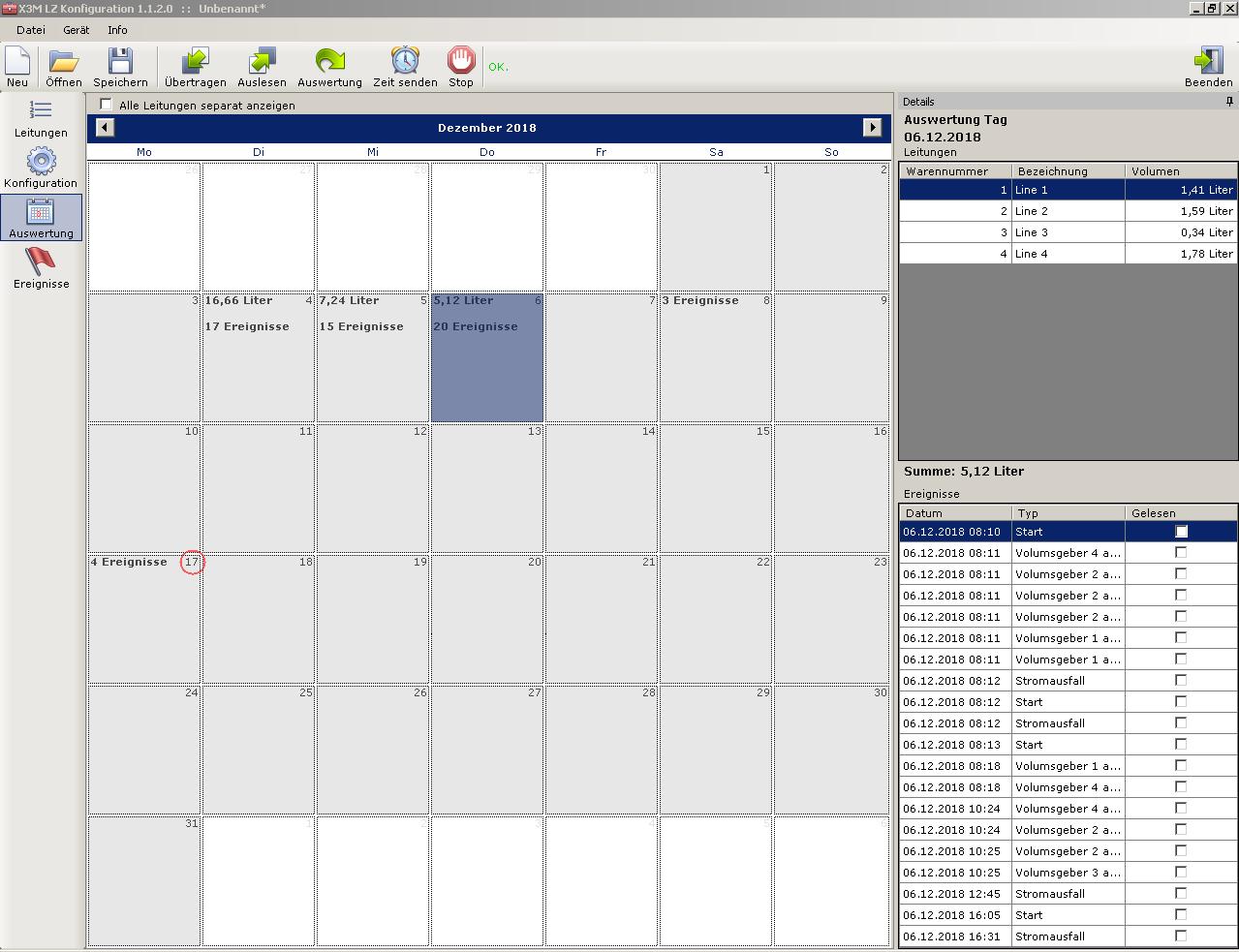 BeerCounter Software Screenshot